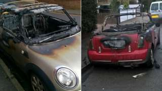 Minis in Randolph St (L) and Belmont Rd (R)