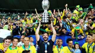 Brasil celebrando la Copa América de 2019.