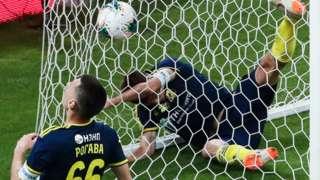Rostov concede a goal at Sochi