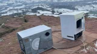 White goods at top of Eccles Pike