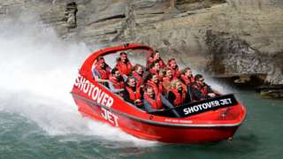 Jet boat on the Shotover River