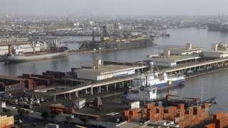 Icyambu cya Dakar port (ifoto yo mu bubiko)