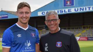 Carlisle United striker Richie Bennett and boss Keith Curle