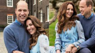 Two portraits of the Duke and Duchess of Cambridge