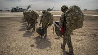 British troops leaving Afghanistan in 2014