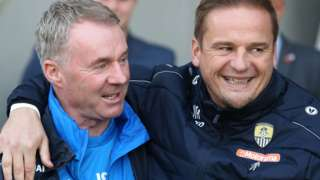 Chesterfield manager John Sheridan (left) and Notts County boss Neal Ardley