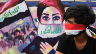 Protester in Baghdad 01/12