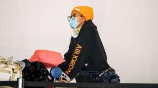Naomi Osaka arrives in Adelaide