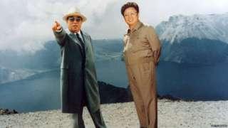 Kim Il-sung and Kim Jong-il in 1994
