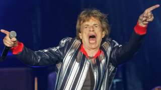 Sir Mick Jagger on stage in St Louis, Missouri, in September