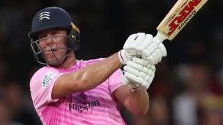 AB de Villiers bats for Middlesex