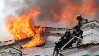 Fire at Blagoveshchensk hospital, 2 Apr 21