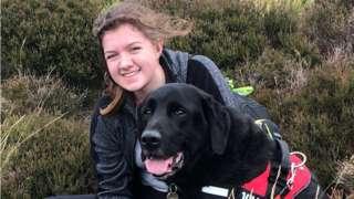 Megan Pollitt with her dog