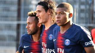 Neymar, Edinson Cavani, Kylian Mbappe