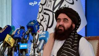 The Taliban's acting Foreign Minister Amir Khan Muttaqi.