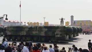 중국이 2019년 10월 1일 건국 70주년을 맞아 공개한 DF-41 대륙간탄도미사일