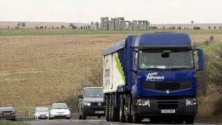 The A303 near Stonehenge