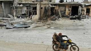 İdlib'den bir görüntü