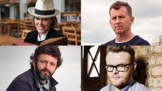 Clockwise: Cerys Matthews, Nigel Owens, Huw Stephens and Michael Sheen