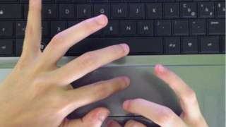 Generic hands on laptop