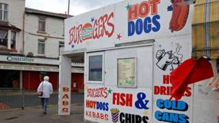 A fast food shop in Blackpool