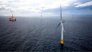Hywind Tampen floating wind farm Snorre platform
