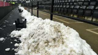 Snow at Pride Park