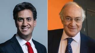 Ed Miliband and Lord Howard