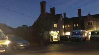 Ambulances parked outside care home
