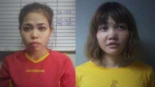 Siti Aisyah and Doan Thi Huong mugshots