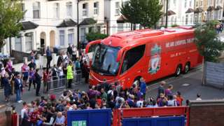 Liverpool bus arrives
