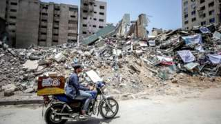 jumba lililoharibiwa Gaza