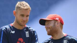 Stuart Broad and Jonny Bairstow