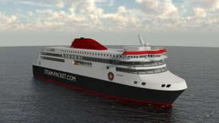 Computer aided design of the bow of the new ferry