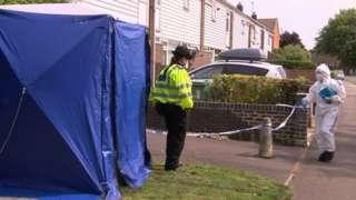 Crime scene in Blackbird Leys
