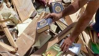 Bookshop destroyed