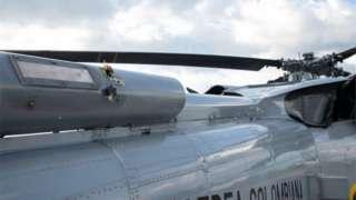 вертолёт после обстрела