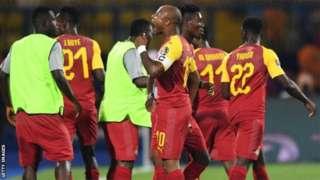 Kapiteni André Ayew yishyuriye Ghana igitego cya mbere cyari cyinjijwe na Mickaël Poté wa Bénin mu ntangiriro y'umukino