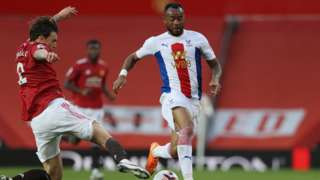 Action from Manchester United v Crystal Palace last September