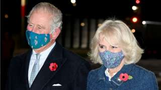 The Prince of Wales and the Duchess of Cornwall arrive at Berlin Brandenburg Airport