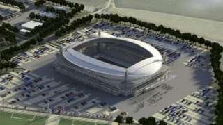 Artist impression of stadium