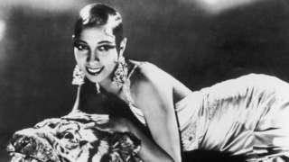 Portrait of American-born singer and dancer Josephine Baker