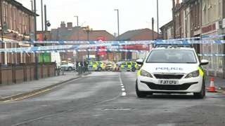 Parts of St Thomas Road have been cordoned off