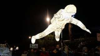 Spaceman lantern in Truro