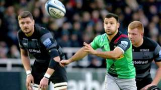 Danny Care spins a pass out for Harlequins