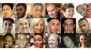 Faces of victims of homicide in London in 2018