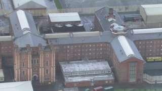 Liverpool jail aerial shot
