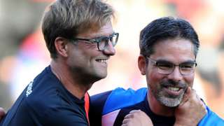 Liverpool manager Jurgen Klopp and Huddersfield boss David Wagner