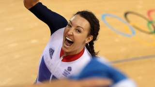 Dani Rowe celebrates winning Olympic gold