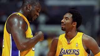 Shaquille O'Neal y Kobe Bryant